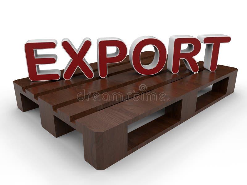 Concetto dell'esportazione del pallet illustrazione vettoriale