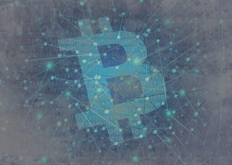 Concetto dell'estratto di Bitcoin royalty illustrazione gratis