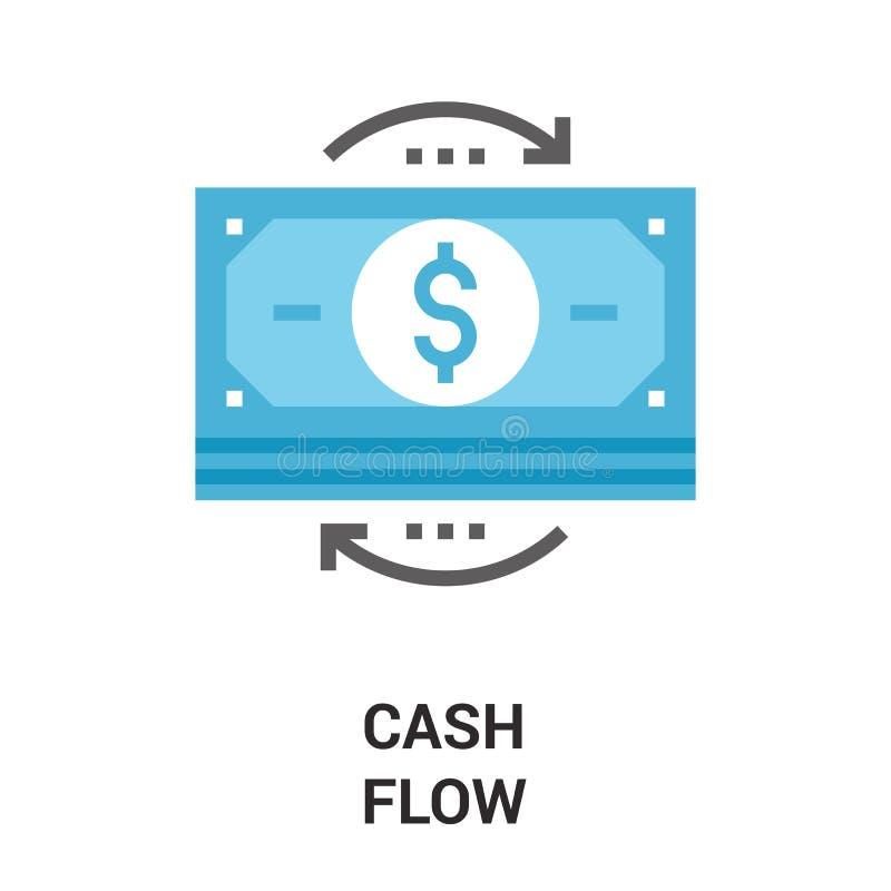 Concetto dell'icona del flusso di denaro illustrazione di stock