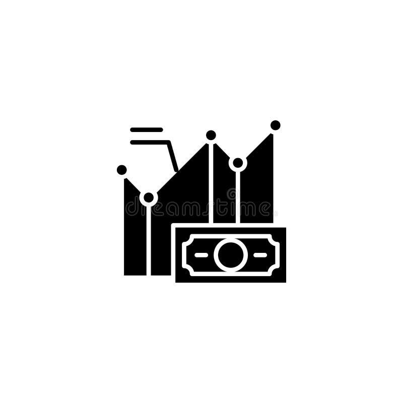 Concetto dell'icona del nero della prova di quoziente d'intelligenza Simbolo piano di vettore della prova di quoziente d'intellig royalty illustrazione gratis