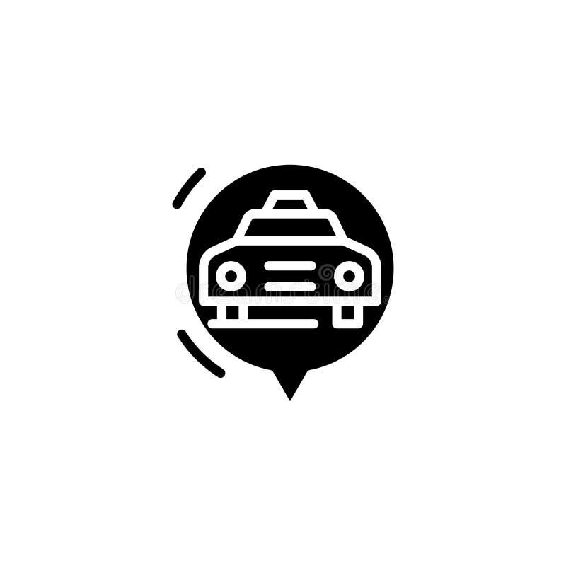 Concetto dell'icona del nero del fornello di riso Simbolo piano di vettore del fornello di riso, segno, illustrazione illustrazione di stock
