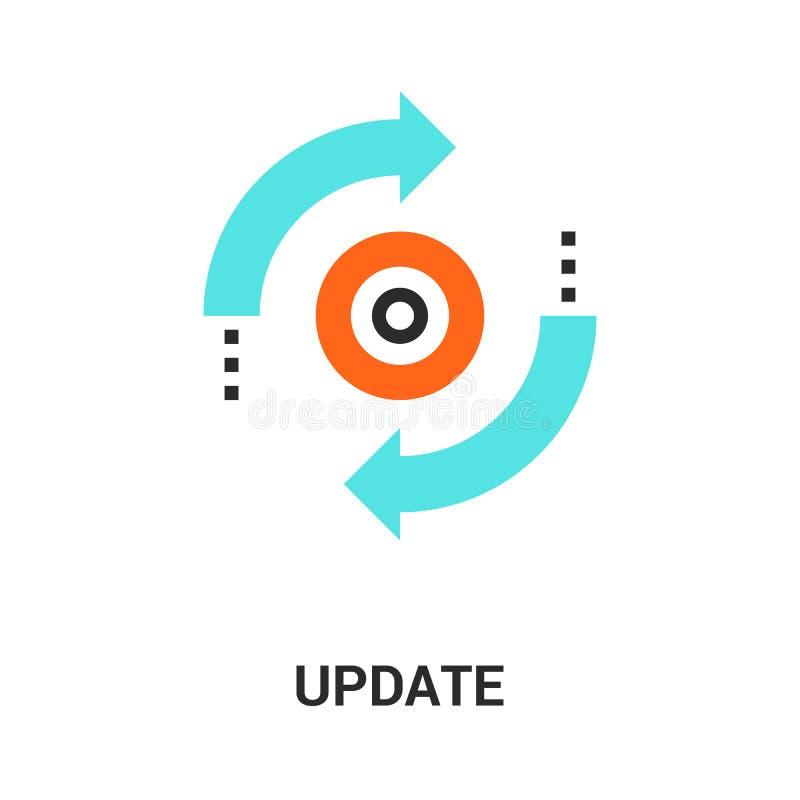 Concetto dell'icona dell'aggiornamento illustrazione di stock