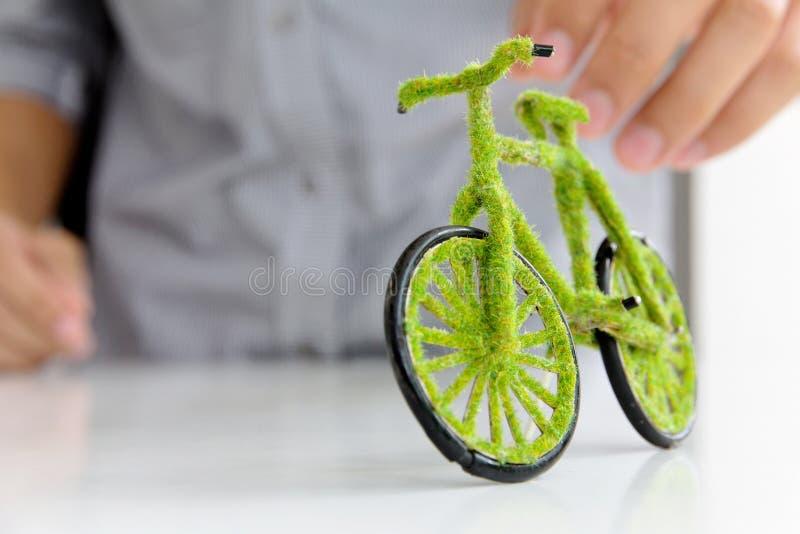 Concetto dell'icona della bicicletta di Eco fotografie stock