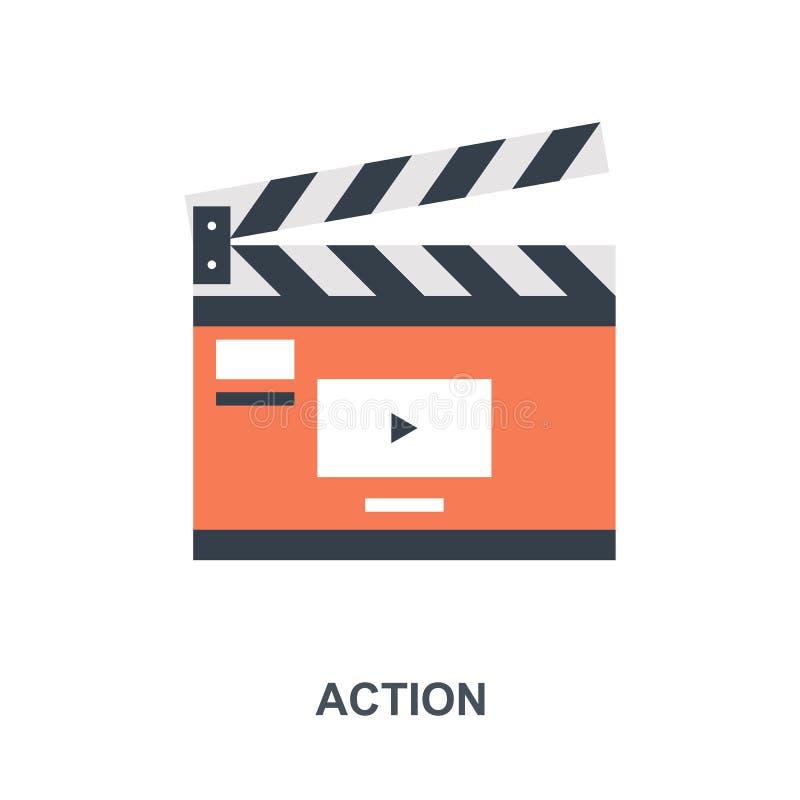 Concetto dell'icona di azione illustrazione di stock