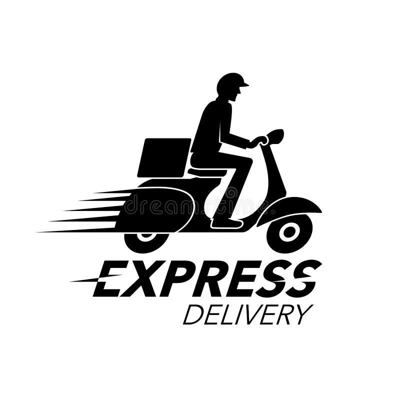 Concetto dell'icona di consegna precisa Servizio del motociclo del motorino, ordine royalty illustrazione gratis