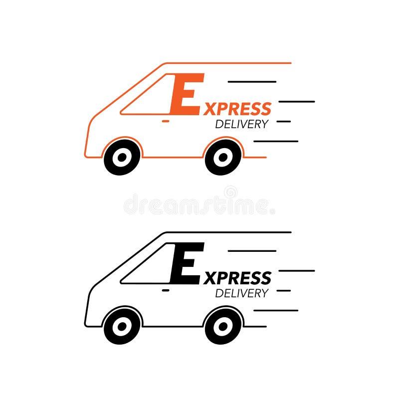 Concetto dell'icona di consegna precisa Van service, ordine, mondiale, fa royalty illustrazione gratis