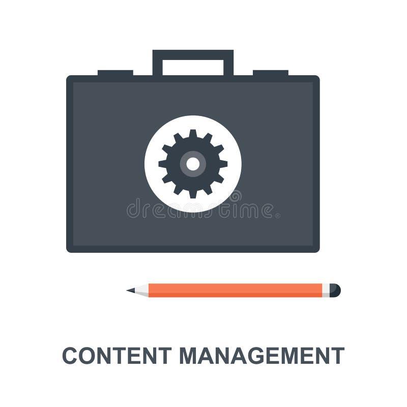 Concetto dell'icona di content management illustrazione vettoriale
