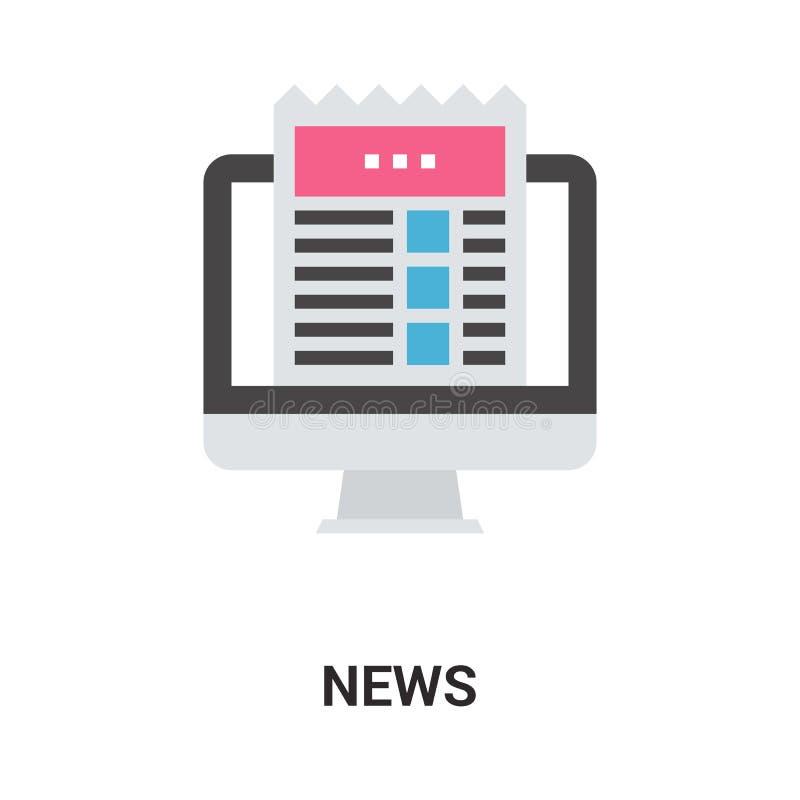 Concetto dell'icona di notizie illustrazione di stock