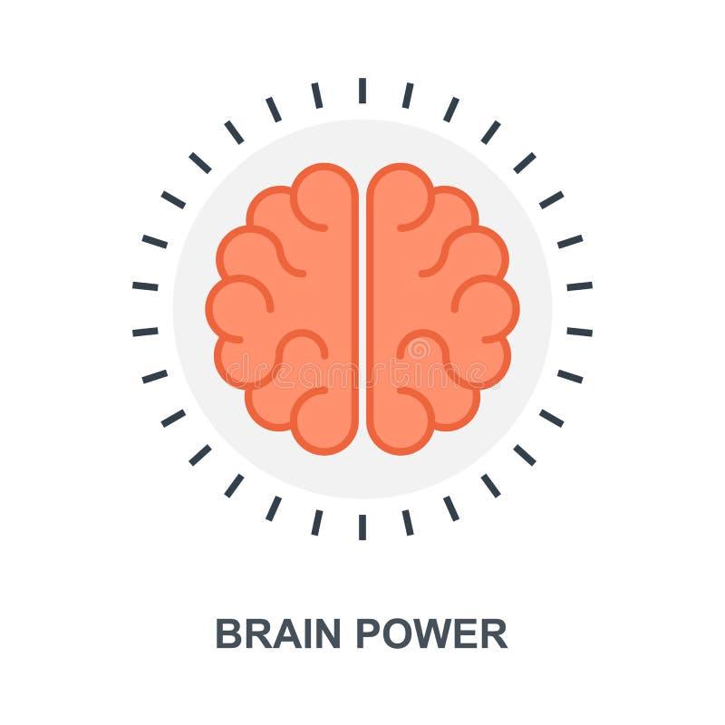 Concetto dell'icona di potenza della mente illustrazione vettoriale