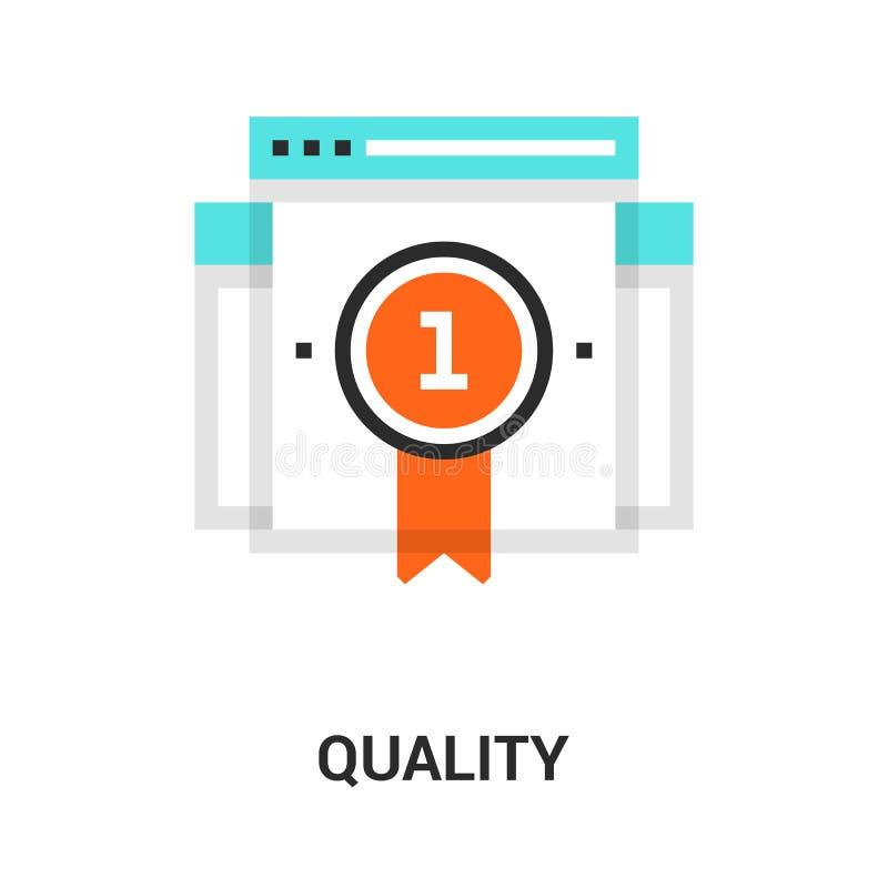 Concetto dell'icona di qualità illustrazione di stock