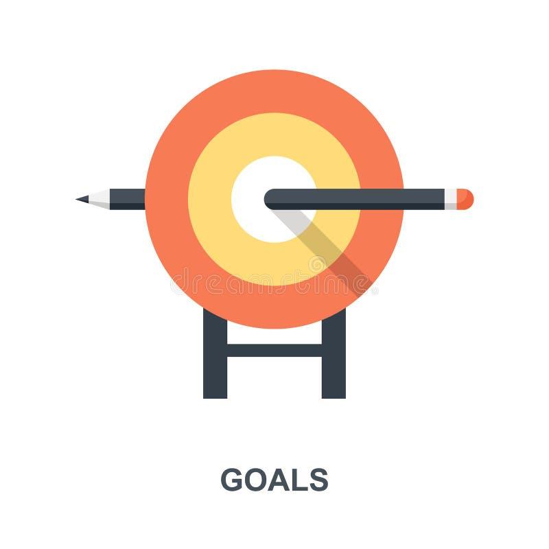 Concetto dell'icona di scopi illustrazione di stock