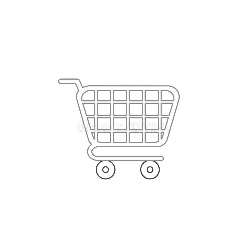 Concetto dell'icona di vettore del carrello Profili di colore illustrazione di stock