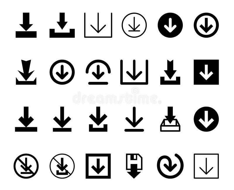 Concetto dell'illustrazione di vettore del download Icona su priorità bassa bianca royalty illustrazione gratis