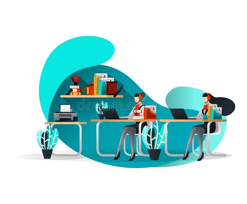 Concetto dell'illustrazione di vettore per l'aletta di filatoio, modello, manifesto, elemento di web Orientamento di assistenza d illustrazione vettoriale
