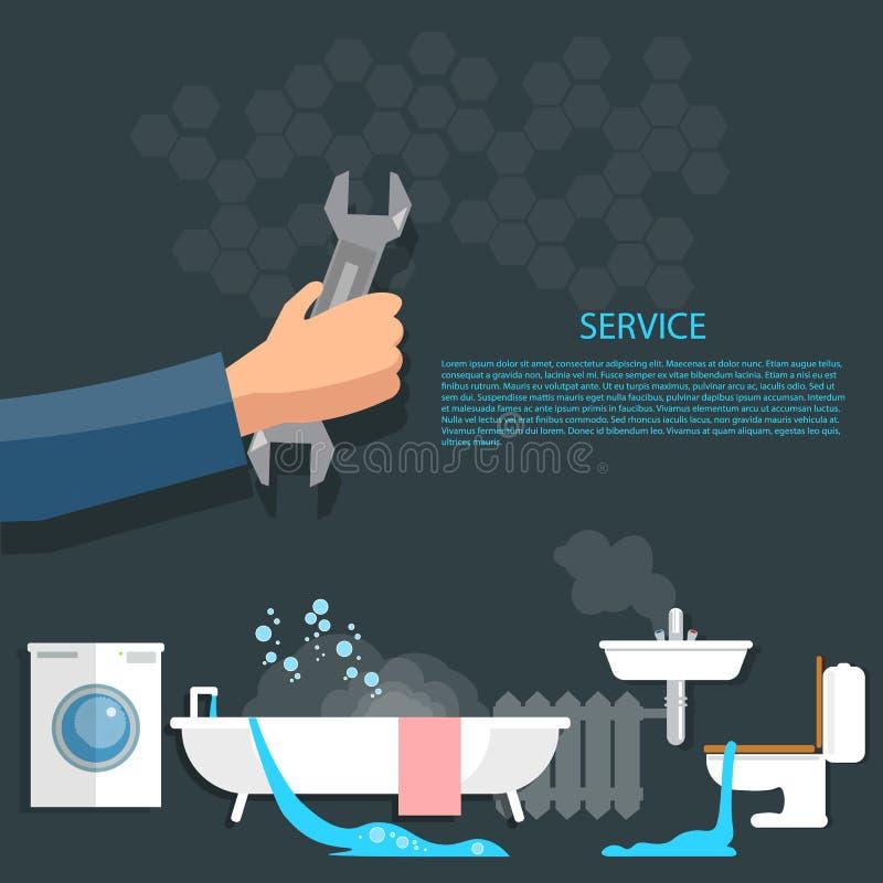 Concetto dell'impianto idraulico illustrazione di stock