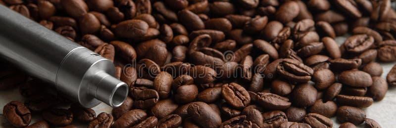 Concetto dell'insegna di sapore del caffè del vape immagine stock libera da diritti