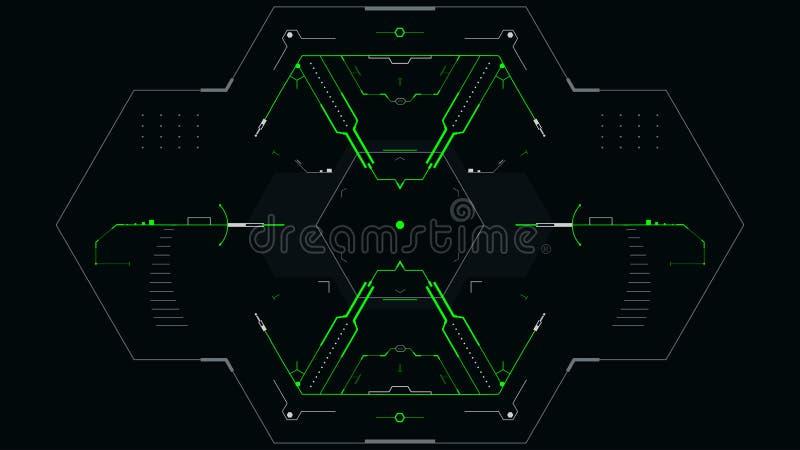 Concetto dell'interfaccia utente futuristica illustrazione vettoriale