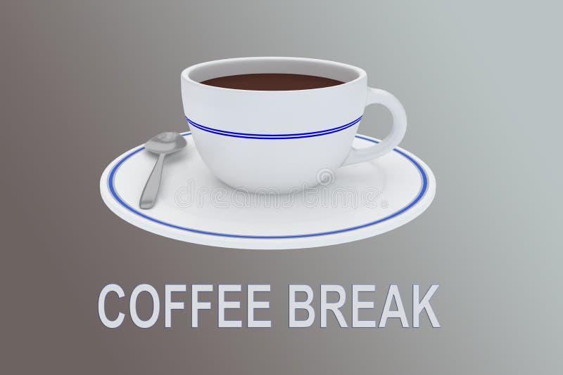 Concetto dell'intervallo per il caff illustrazione di stock