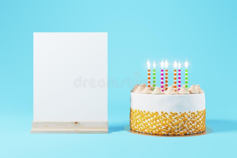 Concetto dell'invito del partito di anniversario immagine stock libera da diritti