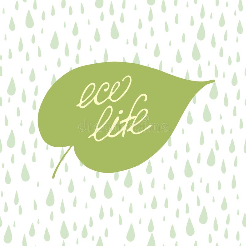 Concetto dell'iscrizione di vita di Eco royalty illustrazione gratis