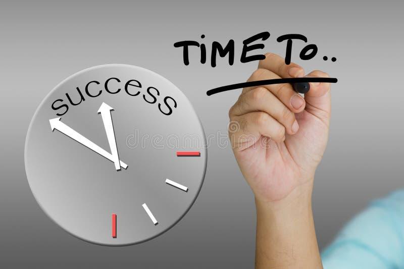 Concetto dell'orologio di successo immagine stock libera da diritti