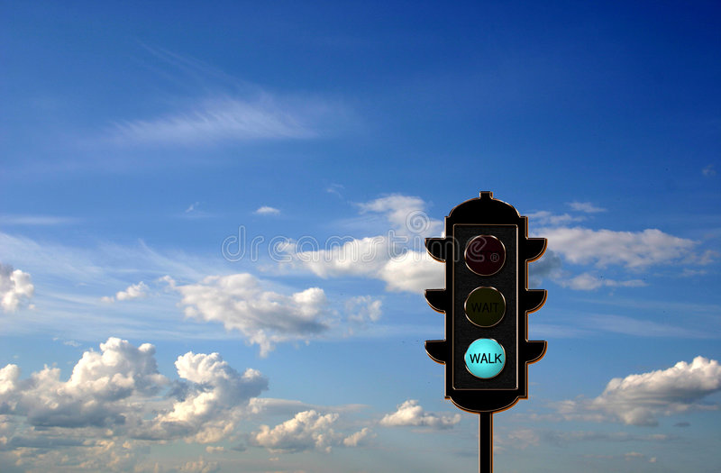 concetto dell'Traffico-indicatore luminoso fotografia stock