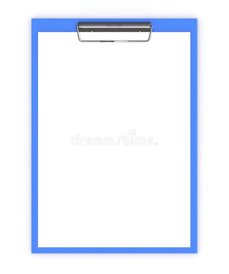 Concetto dell'ufficio di affari: la lavagna per appunti con i fogli bianchi di carta è illustrazione vettoriale