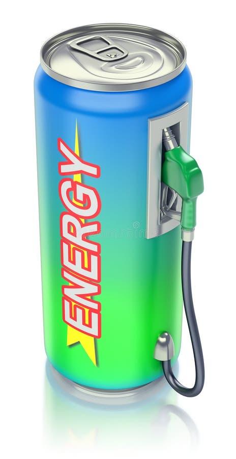 Concetto della bevanda di energia illustrazione di stock