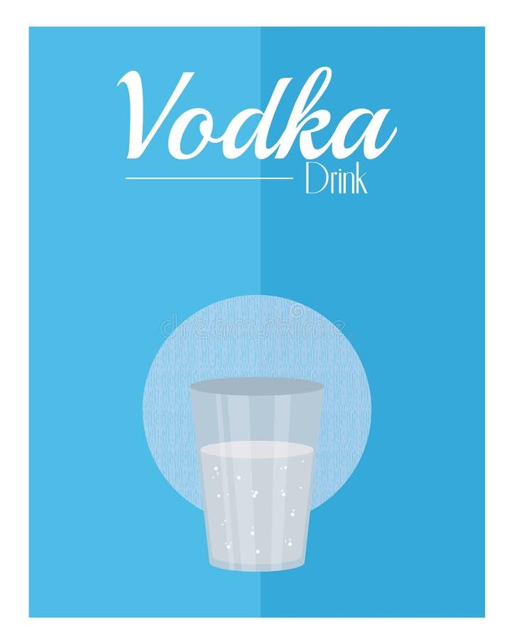 Concetto della bevanda della vodka illustrazione di stock