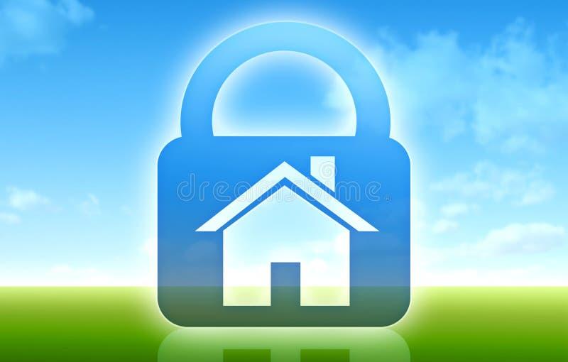 Concetto della casa sicura illustrazione di stock for Concetto casa com