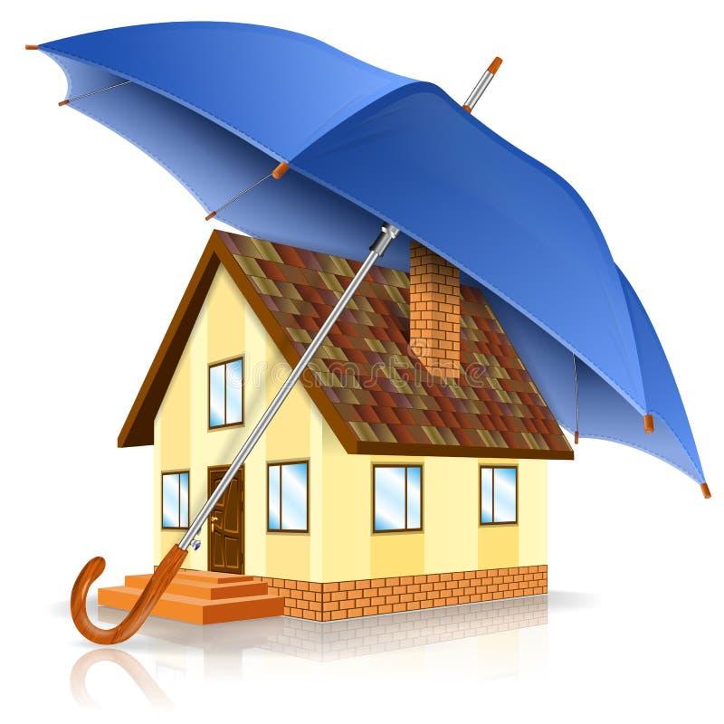 Concetto della casa sicura illustrazione vettoriale