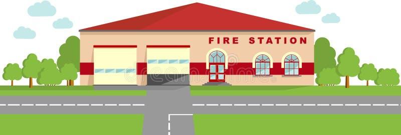 Concetto della caserma dei pompieri fondo panoramico con for Aprire piani casa concetto