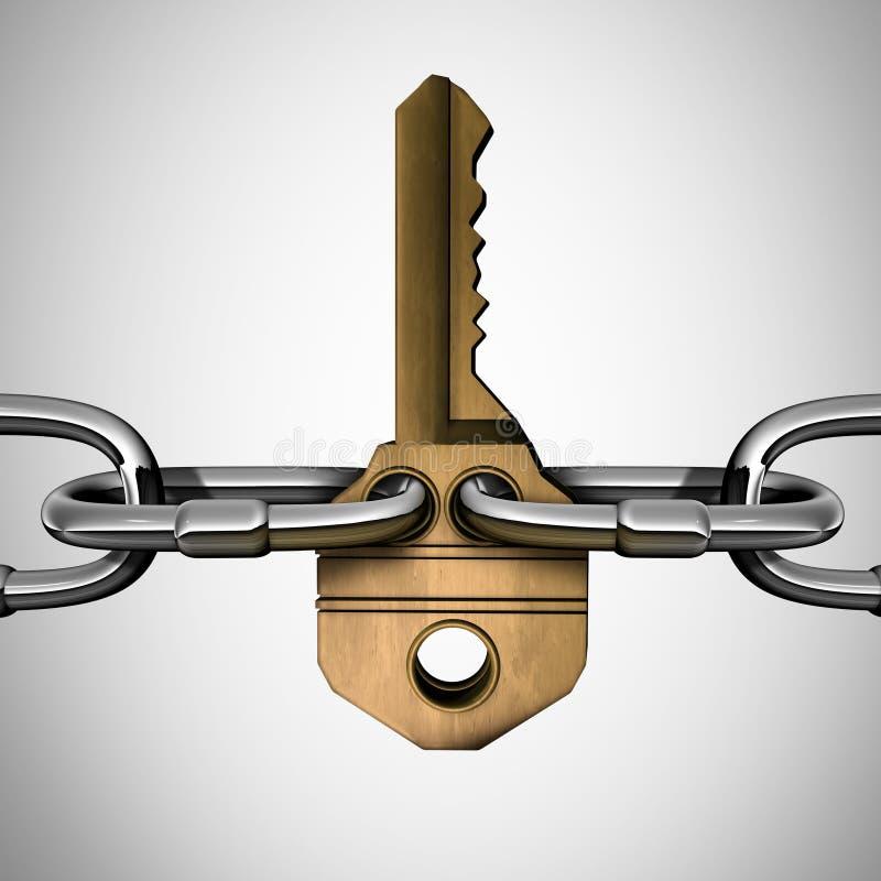 Concetto della catena chiave illustrazione vettoriale