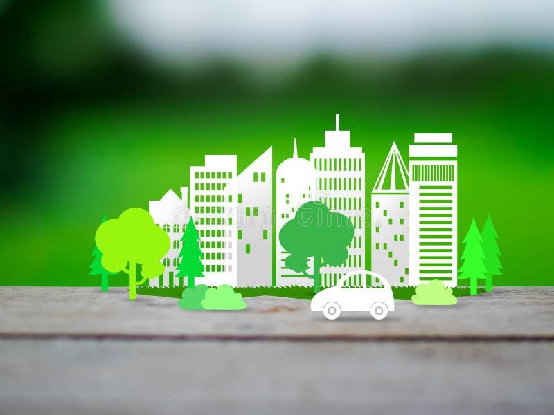 Concetto della città di Eco fotografia stock