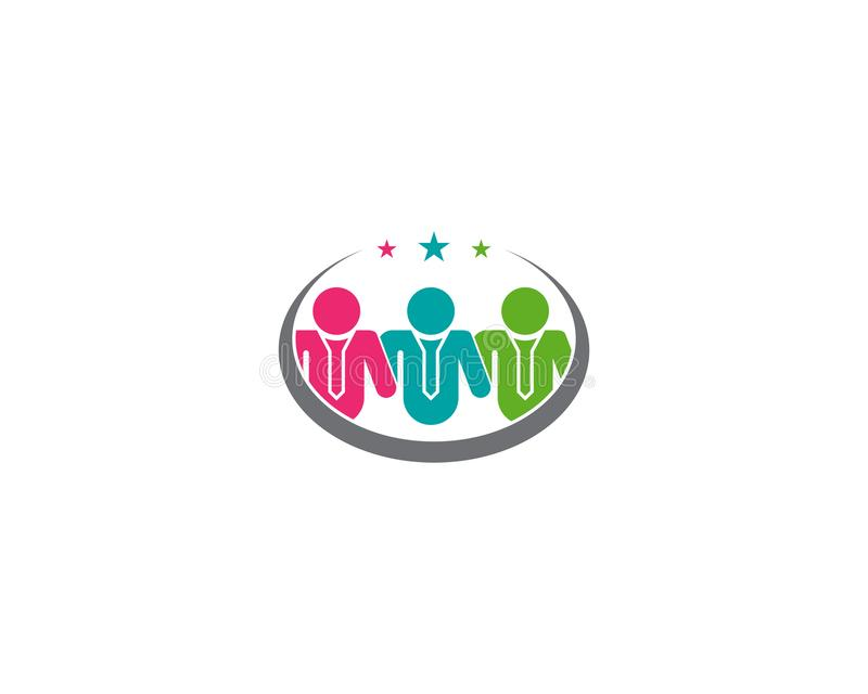 Concetto della Comunità e di direzione, di successo e di lavoro di squadra royalty illustrazione gratis