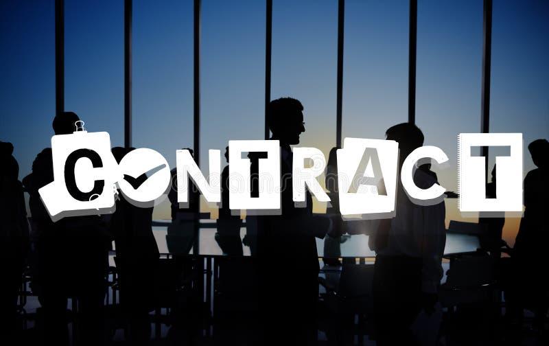 Concetto della convenzione di impegno di affare di accordo di contratto fotografia stock libera da diritti