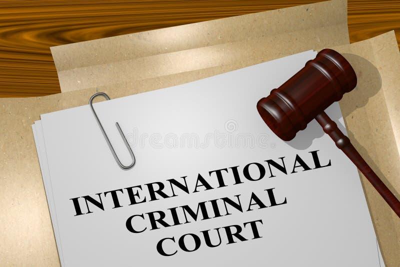 Concetto della Corte penale internazionale illustrazione vettoriale