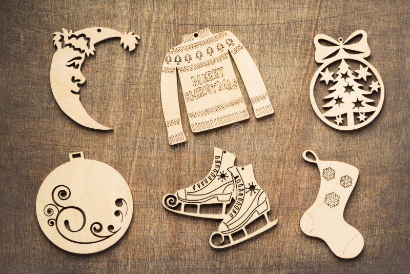 Concetto della decorazione di Natale con i giocattoli immagine stock libera da diritti