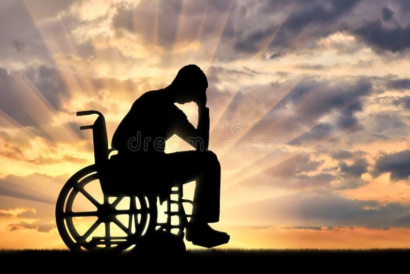 Concetto della gente con le inabilità che sperimenta dipression immagini stock libere da diritti