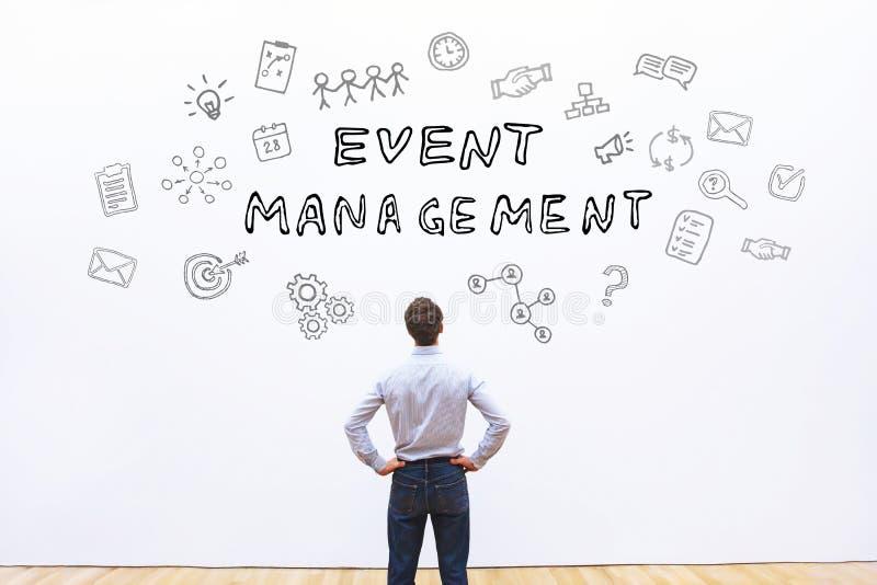 Concetto della gestione di evento immagine stock