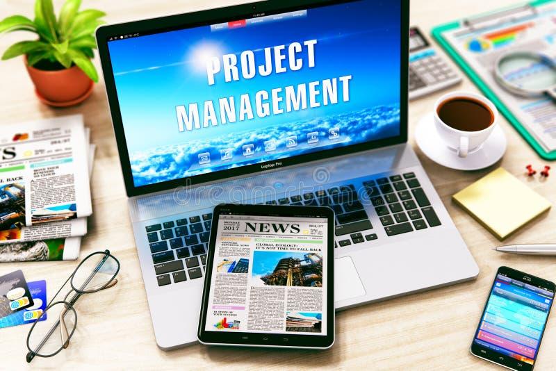 Concetto della gestione di progetti illustrazione di stock