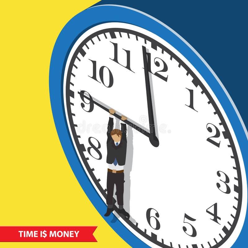 Concetto della gestione di tempo royalty illustrazione gratis