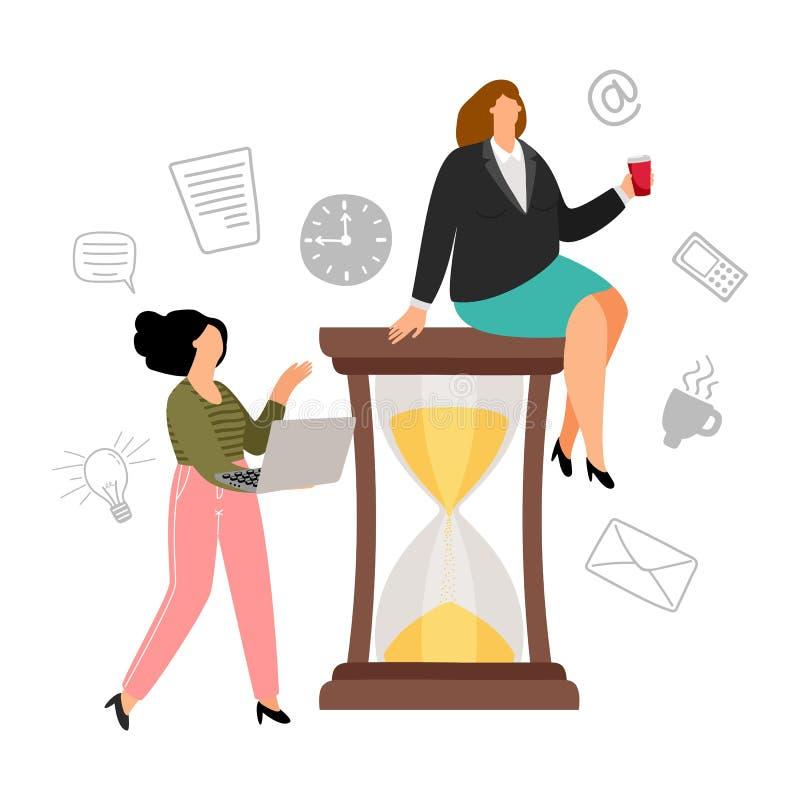 Concetto della gestione di tempo illustrazione di stock