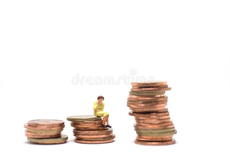 Concetto della gestione finanziaria della donna fotografia stock libera da diritti