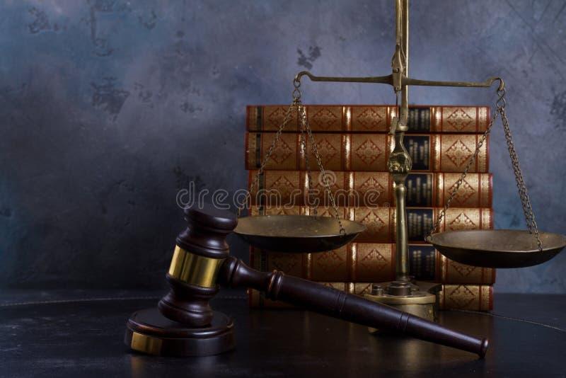 Concetto della giustizia e di legge fotografia stock