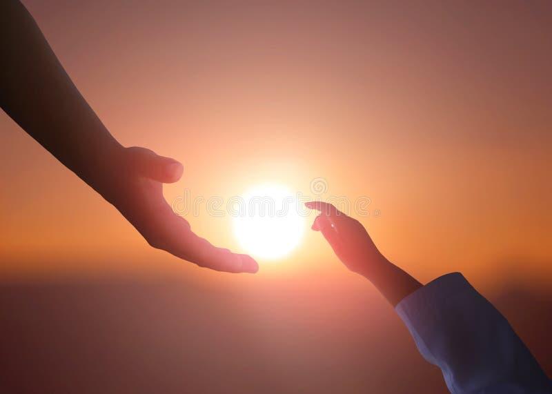 Concetto della mano amica e giorno dell'internazionale di pace fotografie stock