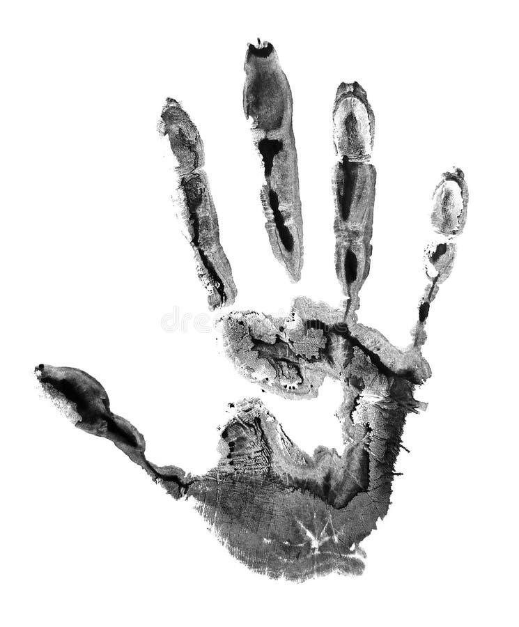 Concetto della mano dell'essere umano della pittura fotografie stock libere da diritti