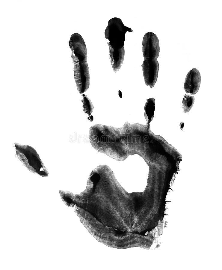 Concetto della mano dell'essere umano della pittura Handprint immagine stock libera da diritti