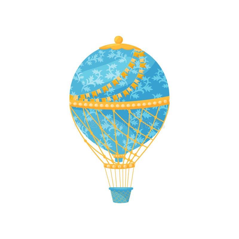 Concetto della mongolfiera Illustrazione piana di vettore illustrazione di stock