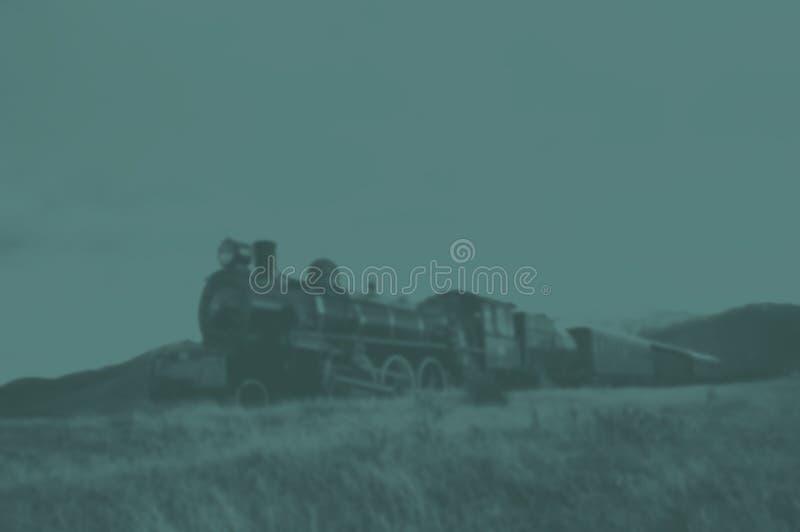Concetto della natura del paesaggio della campagna del treno a vapore fotografia stock